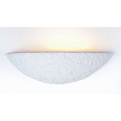 Image for Rose Ceramic Wall Light - White from StoreName
