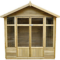 Forest Tetbury Pressure Treated Overlap Summer House - 7ft 2in x 5ft 8in