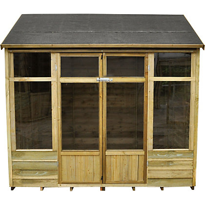 Image for Forest Winchcombe Pressure Treated Overlap Summer House - 7ft 8in x 6ft 7in from StoreName