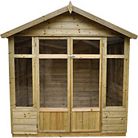 Forest Bloxham Pressure Treated Shiplap Summer House -7ft x 5ft