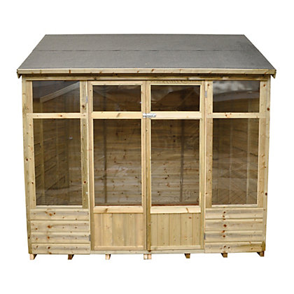 Image for Forest Winchcombe Pressure Treated Shiplap Summer House - 7ft 10in x 6ft 7in from StoreName