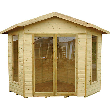 Image for Forest Honeybourne Pressure Treated Corner Summer House - 10ft x 7ft 9in from StoreName