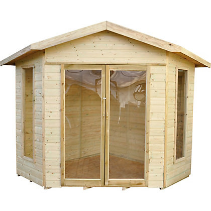 Image for Forest Honeybourne Pressure Treated Corner Summer House - 11ft 5in x 8ft 3in from StoreName