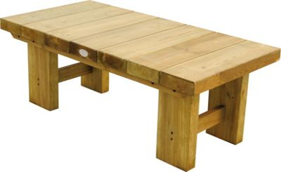 forest low level sleeper table - natural - 1.2m