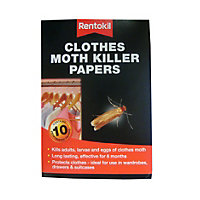 Rentokil Clothes Moth Killer Papers (Pack of 10 strips)