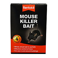 Rentokil Mouse Killer Bait Sachets (Pack of 4)