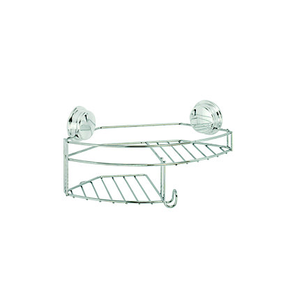 Image for Croydex Stick N Lock Combi Basket - Chrome from StoreName