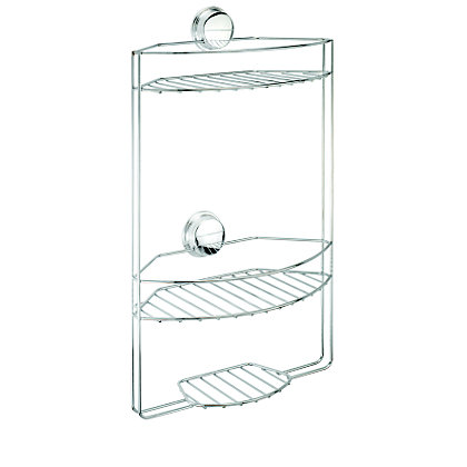 Image for Croydex Stick N Lock 3 Tier Basket - Chrome from StoreName