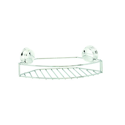 Image for Croydex Stick N Lock Small Storage Basket - Chrome from StoreName