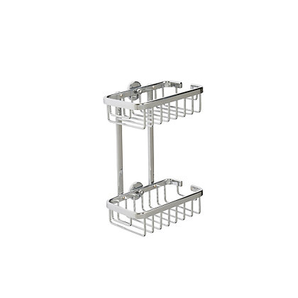 Image for Croydex Premier 2 Tier Cosmetic Basket - Chrome from StoreName