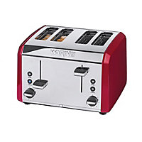 Waring 4 Slice Stainless Steel Toaster - Red.