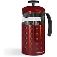 Morphy Richards Accents 8 Cup 1000ml Cafetiere - Red.