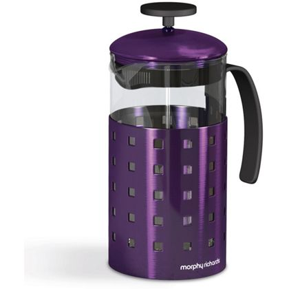 Morphy Richards Accents Coffee Maker Plum : Morphy Richards Accents 8 Cup Cafetiere - Plum.