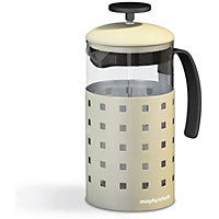 Morphy Richards Accents 8 Cup 1000ml Cafetiere - Cream.