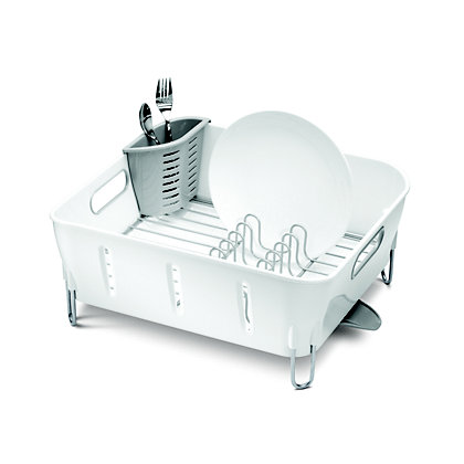 Image for Simplehuman Compact Plastic Dishrack - White from StoreName