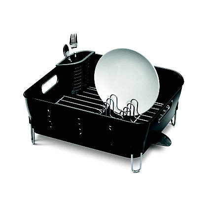 Image for Simplehuman Compact Plastic Dishrack - Black from StoreName