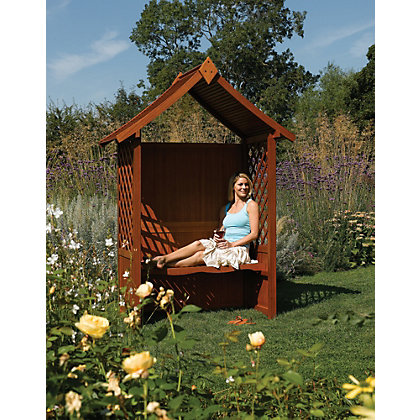 Image for Rowlinson Canterbury Hardwood Arbour from StoreName