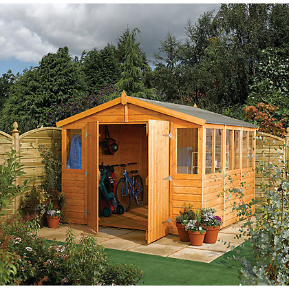 Image for Rowlinson Honey Brown Shiplap Garden Workshop - 9ft x 9ft from StoreName