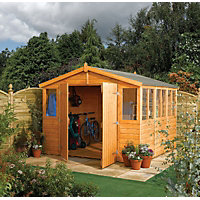 Rowlinson Honey Brown Shiplap Garden Workshop - 9ft x 15ft