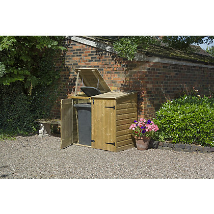 Image for Rowlinson Pent Double Garden Bin Store - 4ft 11in x 2ft 7in from StoreName