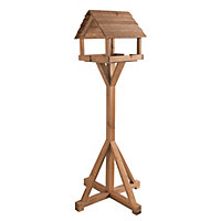Gardman Belton Wooden Bird Table Natural Tan