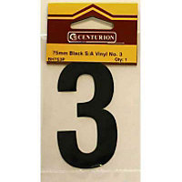 House Number Plate - Black - 3