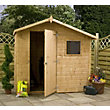 Mercia Natural Timber Offset Shiplap Apex Wooden Shed - 7ft x 5ft