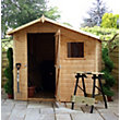 Mercia Natural Timber Offset Shiplap Apex Wooden Shed - 7ft x 7ft