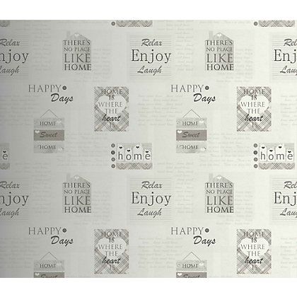 Image for Happy Days Wallpaper - Charcoal from StoreName