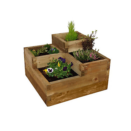 Image for Forest Caledonian Tiered Wooden Raised Bed from StoreName