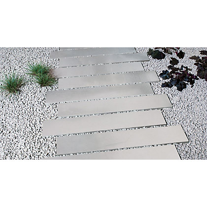 Image for Brett Polished Sandstone Paving Plank 9.32sq m 64 Pack - Mountain Mist from StoreName