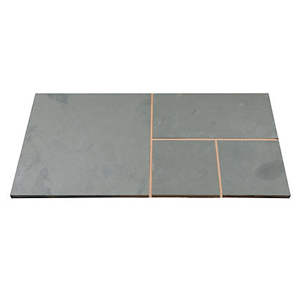 Image for Brett Natural Slate Paving Mixed Size Patio Pack 15.37 sq m 48 Pack - Woodland Grey from StoreName