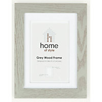 Home of Style Grey Wood Frame - 4 x 6in