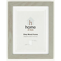 Home of Style Grey Wood Frame - 6 x 8in