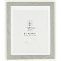 Home of Style Grey Wood Frame - 8 x 10in