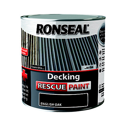 Image for Ronseal Decking Rescue Paint English Oak - 2.5L from StoreName