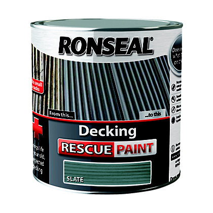 Image for Ronseal Decking Rescue Paint Slate - 2.5L from StoreName