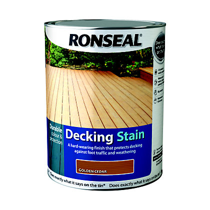 Image for Ronseal Standard Decking Stain Country Oak - 5L from StoreName