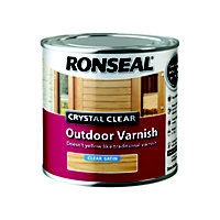 Ronseal Crystal Clear Outdoor Varnish Satin - 250ml