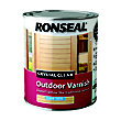Ronseal Crystal Clear Outdoor Varnish Satin - 750ml