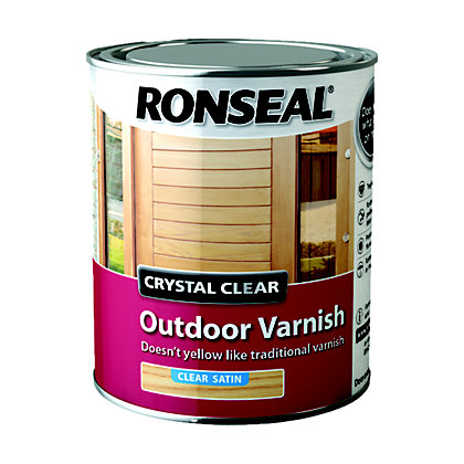 Image for Ronseal Crystal Clear Outdoor Varnish Satin - 750ml from StoreName