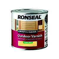 Ronseal Crystal Clear Outdoor Varnish Matt - 250ml