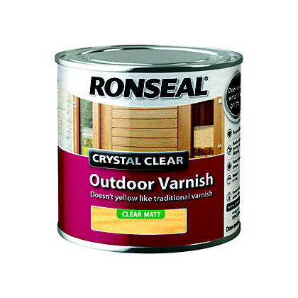 Image for Ronseal Crystal Clear Outdoor Varnish Matt - 250ml from StoreName
