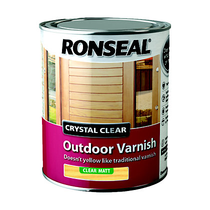 Ronseal Crystal Clear Outdoor Varnish Matt 750ml