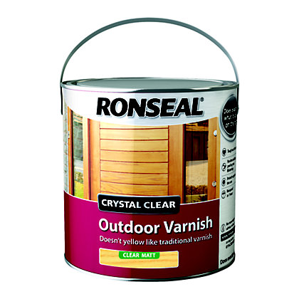 Image for Ronseal Crystal Clear Outdoor Varnish Matt - 2.5L from StoreName