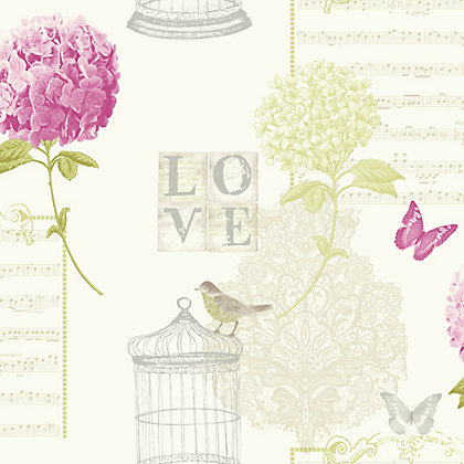 Image for Carrie Green Wallpaper - Pink from StoreName