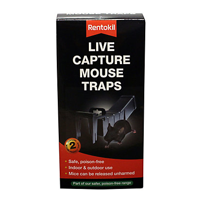 Image for Rentokil Live Capture Mouse Trap (Pack of 2) from StoreName