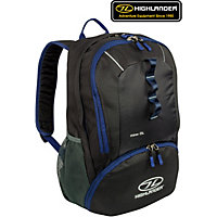 Highlander 25L Backpack - Black and Blue.