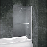 Aqualux Frameless Square Shower Screen - 8mm glass