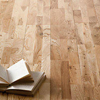 Solid Wood Oak 3 Strip Flooring - 1 sq m